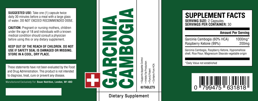 GARCINIA CAMBOGIA ingredients