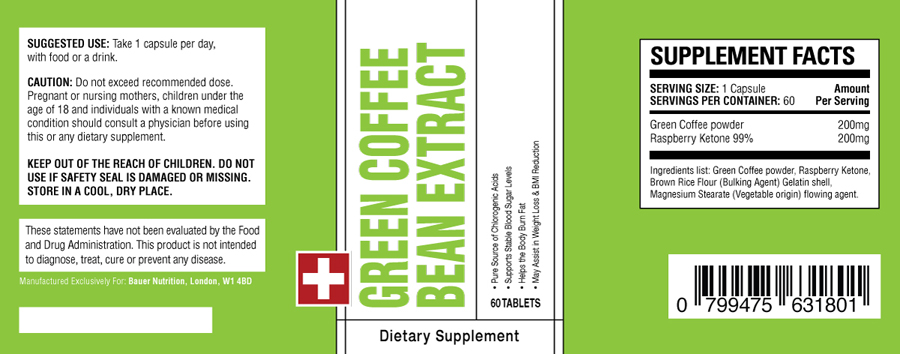 GREEN COFFEE BEAN EXTRACT ingredients