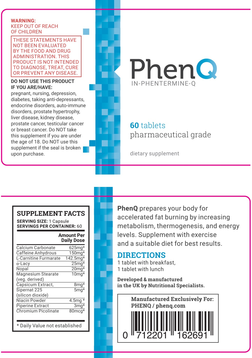 phenq ingredients posologie contre-indications